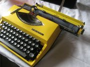 Reiseschreibmaschine Kofferschreibmaschine Schreibmaschine Adler Tippa
