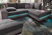 Ecksofa Nova Via mit RGB-LED-Beleuchtung