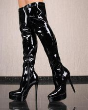 Lack Latex Overknees Domina