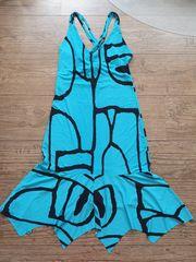 Kleid türkis blau schwarz Stretch
