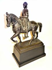BARTOLOMEO COLLEONI Bronze Reiter Skulptur