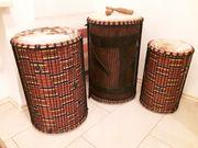 3 afrikanische Trommeln Dundunba Sangban