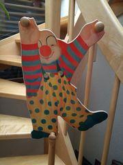 Kindergarderobe Garderobe Clown Holz