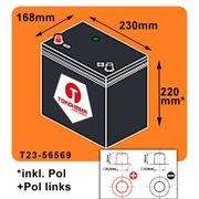 Tokohama Autobatterie 65Ah 580A EN