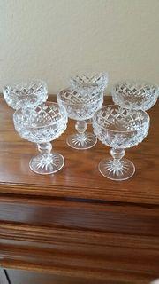 6 Kristall-Sekt- Champagner-Gläser