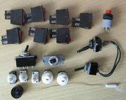 Verschiedene Schalter Einbauschalter Lampen- Geräteschalter