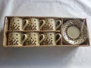 Kaffee-Service 6 kleine Tassen und