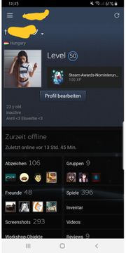 Steam account Top Spiele 700