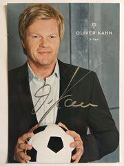 OLIVER KAHN -Titan handsignierte Autogrammkarte