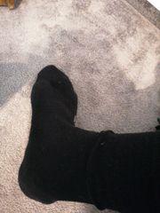 Getragende Socken und oder Unterhosen