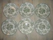 6 Englische Sammelteller Raku-Keramik