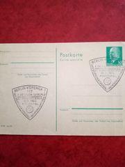 Biete Originalpostkarte mit Sonderstempel für
