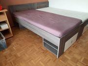Bett 90x200 mit Seitenschläferkissen zu