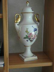 Porzellanvase Henkelvase Deckelvase von Kaiser