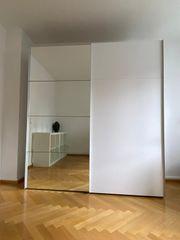 Schrank mit Spiegeltür Kleiderschrank weiß