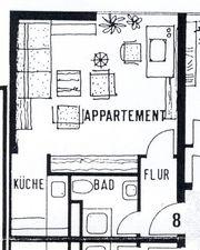Studentenwohnung mit Bad und Küche