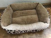 Kuscheliges Katzenbett braun - Leopardenmuster