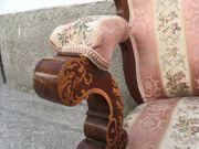 Antikes Sofa Vollholz mit Armlehnen