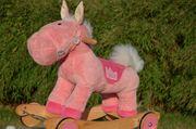 Schaukelpferd Pink-Fury On Hot Wheels