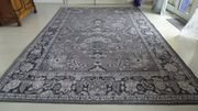 Vintage Teppich neuwertig schwarz grau