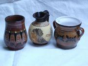 3 x Keramik Vase Dekovase