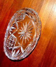 Funkelnde schiffchenförmige Bleikristall - Schale
