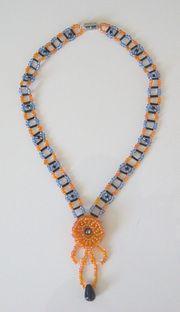 Halskette Design Kunsthandwerk Rocailles Glas