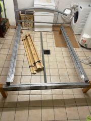 Bettgestell Holz Metall
