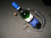 Wein-Flaschenhalter Chrom mit Spirale für