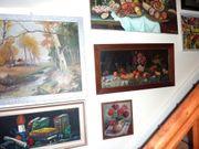großer Posten Gemälde Aquarelle Originaldruck