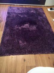 Hochflor - Teppich lila