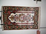 Indischer handgeknüpfter Kunstseideteppich 96 x