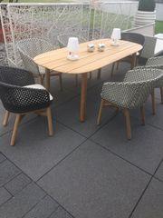 DEDON Gartensitzgruppe Tischgruppe Mbrace Teakholz