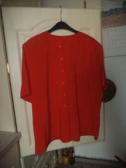 Schöne Bluse tomatenrot - Größe 46