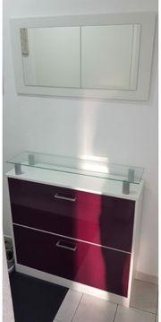Garderoben Set mit Glasablage 3-teilig