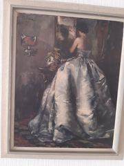 Gemälde Frau im Ballkleid