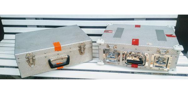 Aluminiumkoffer zwei Stück Profiausrüstung für