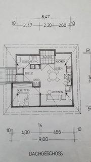 2 Zimmer Dachgeschoßwohnung