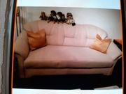 Couch Beige 1Sessel 1 Hocker