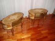 2 Goldfarbene Nachttische dekorative Konsolen
