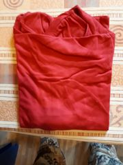 T-Shirt Gr 50 Wasserfallausschnitt rot