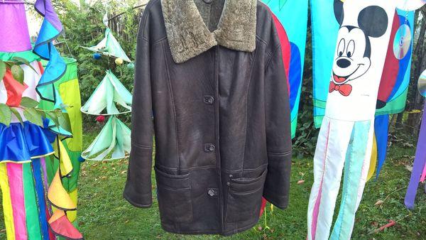Lammfelljacke - Jacke aus Lammfell - braun -