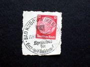 Briefmarken DR Briefstück 1938 Bad