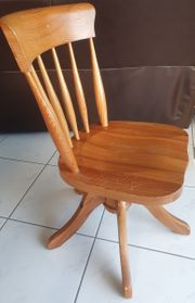 Holzdrehstuhl Schreibtischstuhl