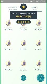 9x10km Eier in Pokemon Go