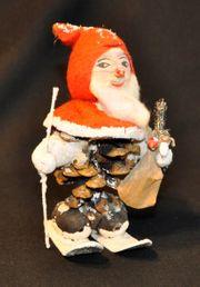 Vintage Weihnachts-Tannenzapfen-Mann