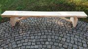 3 m rustikale Holzbank Baumstamm