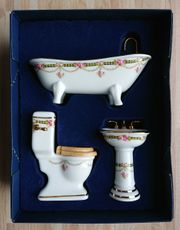 Reutter Porzellan Miniaturmöbel - Dreiteiliges Biedermeier