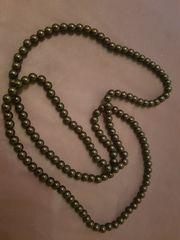Perlenkette schwarz Modeschmuck