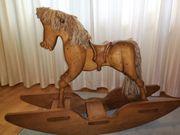SCHAUKELPFERD groß Holz massiv Kunstschreinerarbeit
